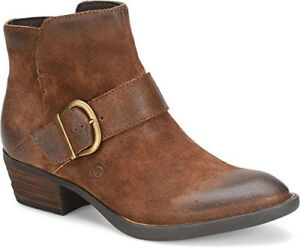 a44bcf5ea38d NEW BORN Baloy Rust Brown Suede Leather Ankle Bootie Boot Side Zip ...