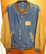 MOBIL 1 RACING vtg denim jacket large Dunbrooke synthetic motor oil Exxon coat