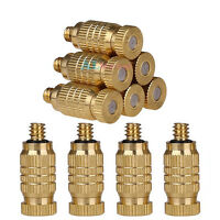 10pcs Anti-drip Brass Misting Nozzles Spray Head For Garden Cooling System 0.3mm