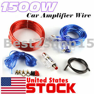 8 Gauge Amplfier Power Kit for Amp Install Wiring Complete RCA Cable ReD 1500W