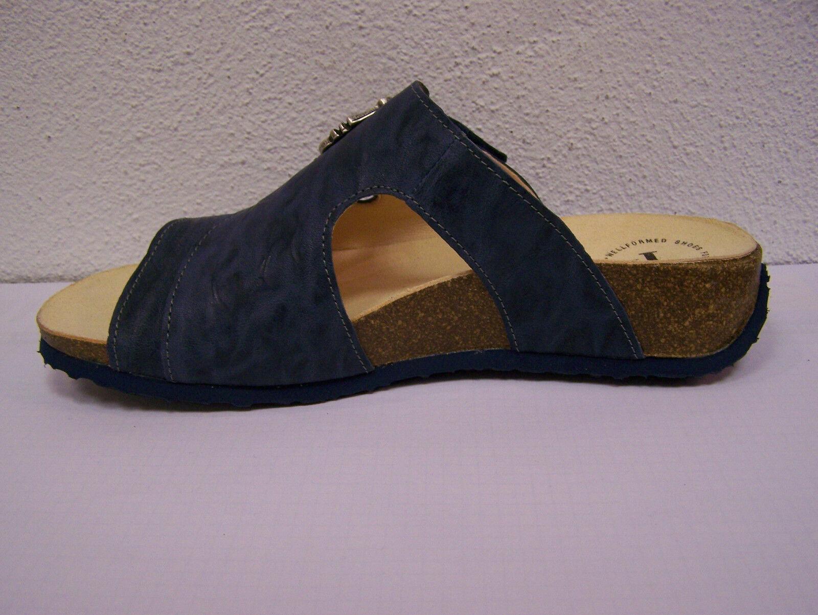 Think  Pantolette Modell Mizzi saphir kombi incl. Klettverschl. incl. kombi Think Papiertüte 6a4ca0