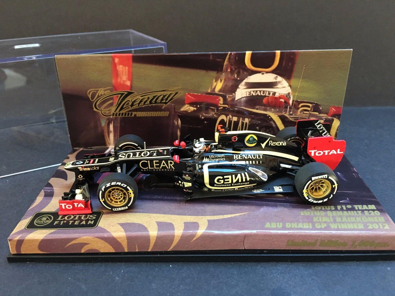 Minichamps - Kimi Raikkonen - Lotus - E20 - 2012 - Abu Dhabi GP Winner - 1:43