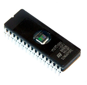 M27C1001-10F1-Eeprom-Ic-UV-1MBIT-100NS-32CDIP-St