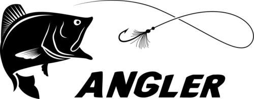 Angler Aufkleber A-049 Sticker Hecht Angeln Angelsport Fisch fischen