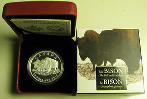 2014-Proof-20-The-Bison-3-The-Bull-and-His-Mate-Canada-9999-silver-twenty-dol