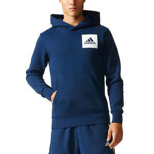 Details about Adidas Men Hoodie Running Essential Logo Training Navy Modern Hood New S98771