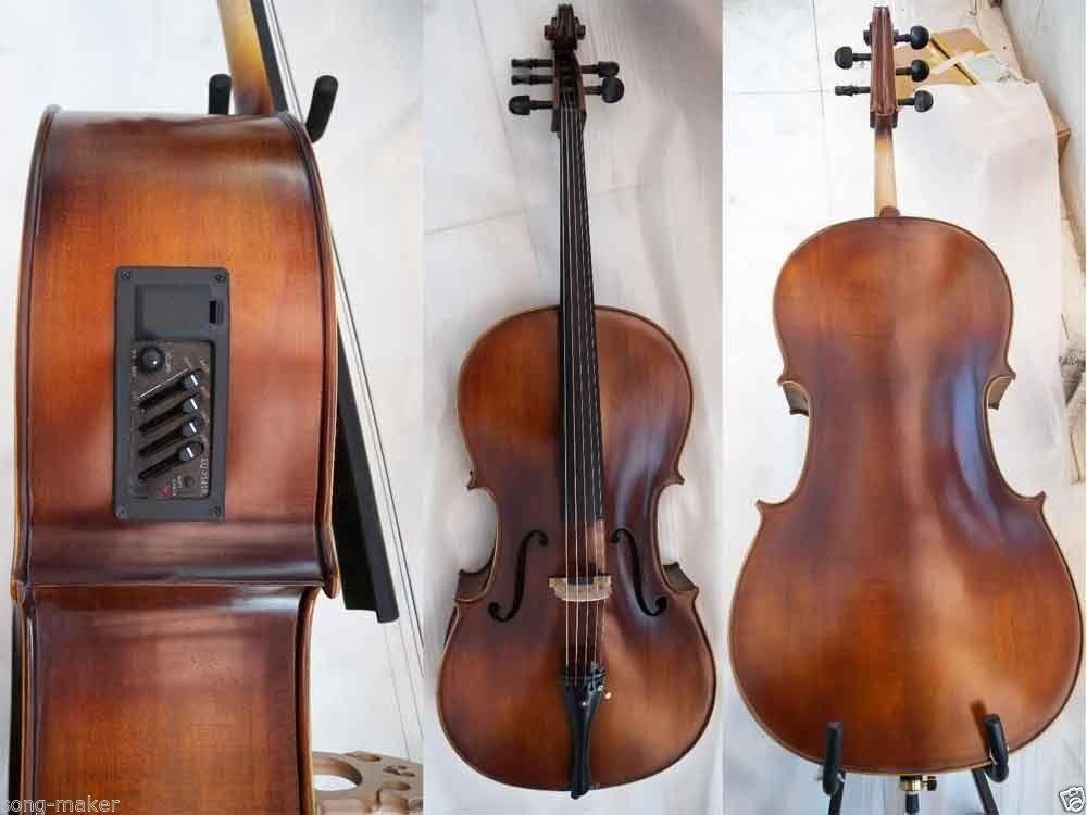 Yinfente Electric Cello 4 4 5string Acoustic Cello Ebony parts  EC1