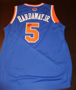 3c00a638d9d Tim Hardaway Jr. NBA Signed New York Knicks Jersey COA Michigan ...
