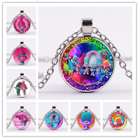 Dreamworks Trolls Necklace Pendant Cartoon Kids Jewelry Toys Children Play Gifts
