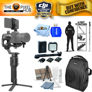 "DJI Ronin-SC 3-Axis Gimbal Stabilizer Bundle with Backpack 72"" Monopod and More"
