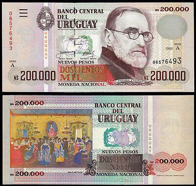 P-89a 200 Pesos Uruguayos UNC Serie C Uruguay 2006