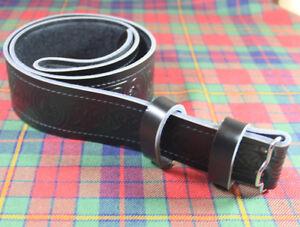 Neu Budget Kilt Schwarz Keltisch Distel 100% Original Ledergürtel Für Kilts Ungleiche Leistung Sonstige Europäische Kleidung