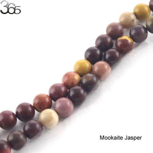 """Natural Round Mookaite Jasper Gemstone Jewelry Beads Strand 15/"""" 4 6 8 10 12 14mm"""