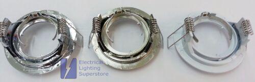 GU10 MAINS FIXED DIE CAST DOWNLIGHT RECESSED SPOTLIGHT TWIST LOCK LED OR HALOGEN