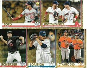 2019-Topps-Baseball-Series-1-Gold-Parallel-039-d-to-2019-You-Pick-Choose-Card