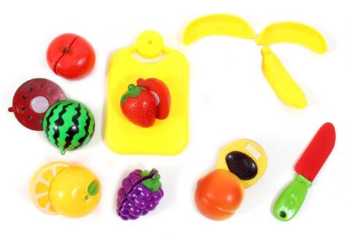 20pc Cutting Fruits Cooking Playset for Kids Kitchen Cutting Board Toy Gift PS72