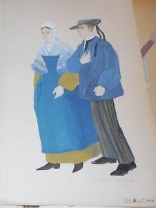 GLOUCHKOFF-CROQUIS-DE-MODE-ca-1930-COSTUME-LA-ROCHE-BERNARD-1907