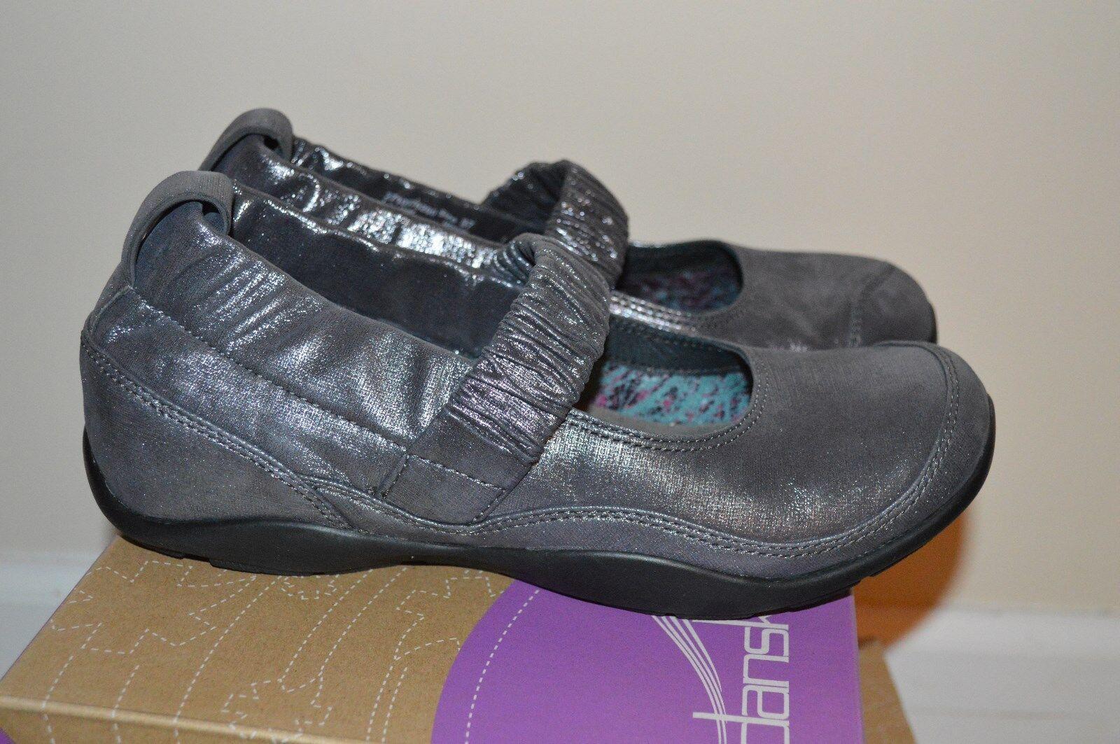 Nuevos Zapatos Zuecos flores MJ comodidad Chrissy Brillo Gamuza  Nuevo en Caja Estaño Maryjane