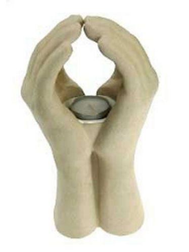 Teelichthalter Kerzenhalter Betende Hände Namaste 24 cm