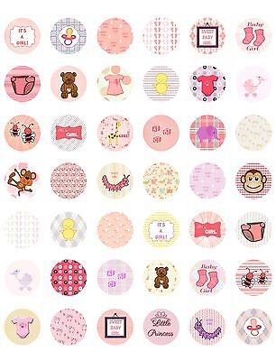 It's a Girl/ Baby Shower Printable Bottle Cap Images~  42 Different Designs!