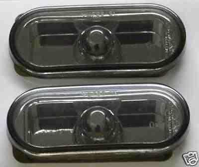 VW Polo Mk4 6N 6N2 Mk4 94-99 Black Smoked Mirror Side Repeaters 1 Pair inc bulbs