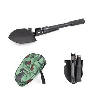 Pyle PHMDSH11 Compact Folding Tactical Utility Shovel Camping Hiking Emergency