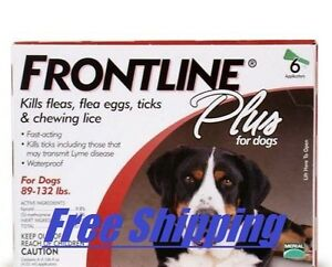 Frontline-Plus-Flea-amp-Tick-Control-For-Dogs-amp-Pups-89-132-lbs-Best-Value-6-pack