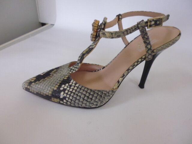 Alba Moda Chaussures Sandales Escarpins Sling en cuir taille 38 (5)