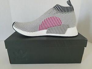 26838f772f2 Adidas NMD CS2 PK Core Grey Shock Pink BA7187 City Sock Men sz 12 ...