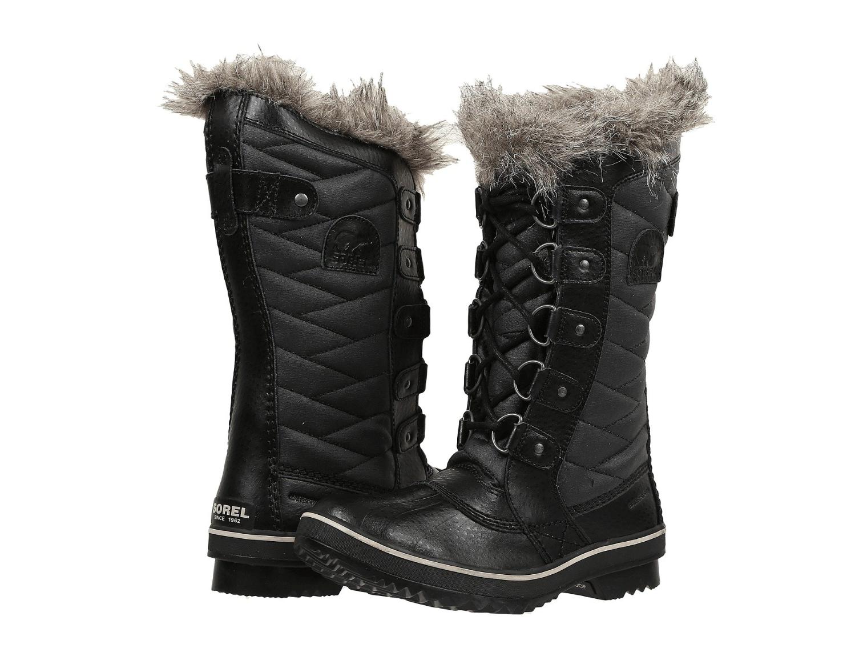 negozio online Sorel Tofino II stivali donna donna donna Winter Snow Cold Weather Fur Trim nero Stone  Felice shopping