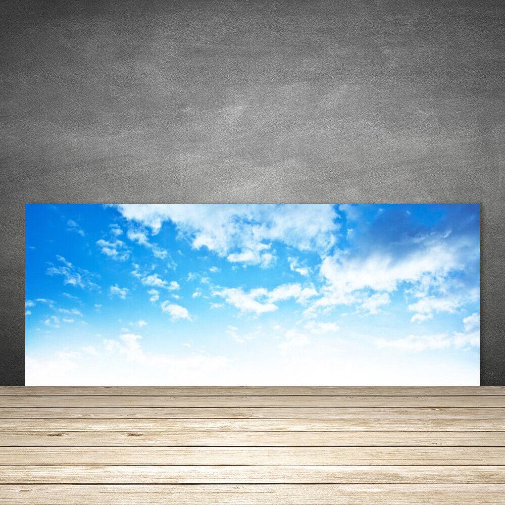 Crédence de cuisine en verre Panneau 125x50 Paysage Ciel