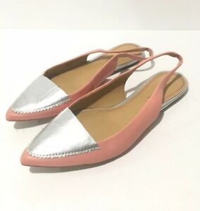 Anthropologie-Pilcro-and-the-Letterpress-Size-8-Pointed-Toe-Slingback-Flat-Women