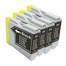 4 NON-OEM INK BROTHER LC51 LC-51BK BLACK DCP-330C DCP-350C DCP-750CW FAX-1940C