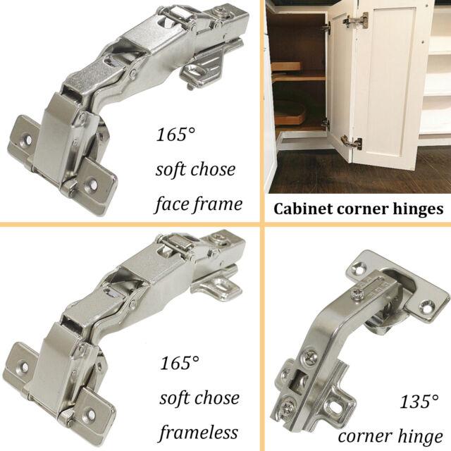 2pcs 1 pair European Style Hidden Concealed 165 degree Corner Kitchen Cabinet