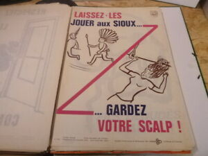 Affiche-Serigraphie-Prevention-Securite-70-039-s-AINF-RARE-indiens-sioux