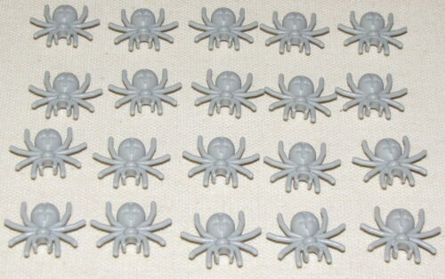 LEGO NEW LOT OF 20 LIGHT BLUISH GREY SPIDER INSECT ANIMAL HALLOWEEN PIECES