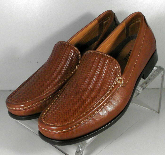 209000 WT50 Mens Shoes Size 11.5 M Tan Leather Slip On Johnston Murphy Walk Test