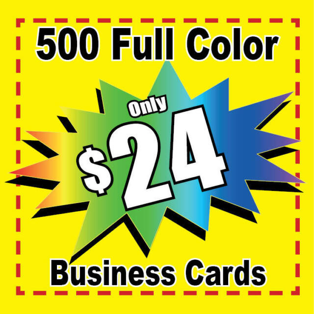 500 Full Color Custom Business Cards + FREE SHIPPING