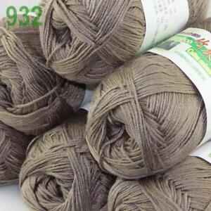 Summer 1Ball x 50g Bamboo Cotton Baby DIY Thread Knitting Crochet Finger Yarn 24