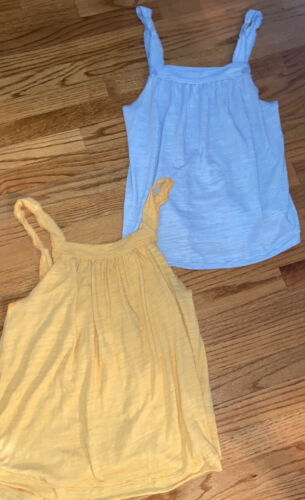 Free People Lot of 2 Blue & Yellow Tank Tops size