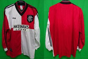 88455ca7855 1995-1996 Glasgow Rangers FC Jersey Shirt Away Mcewan's Lager Adidas ...