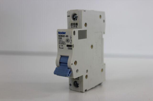 NEW Nader NDB2Z-63 250V GB14048.2 IEC60947 Circuit Breaker