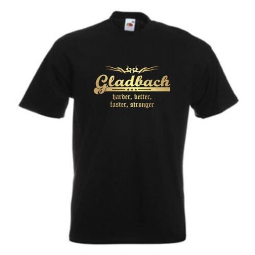 T-Shirt Gladbach harder better faster stronger Städteshirt Fanshirt SFU10-29a