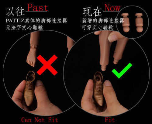 """1//6th 9pcs Neck//Foot Connector Fit 12/"""" Action Male// Female Figure Model Body"""