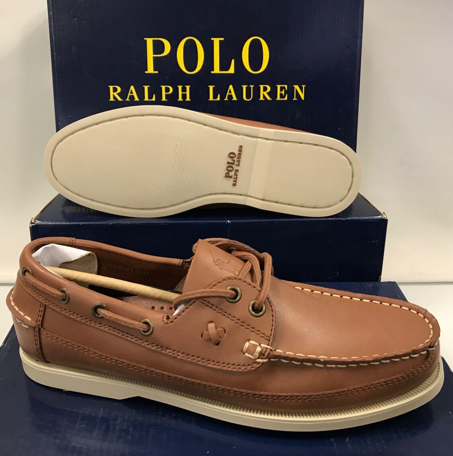 Polo Ralph Lauren Barx Mens Boat Loafers Moccasins Shoes UK 7 EUR 41
