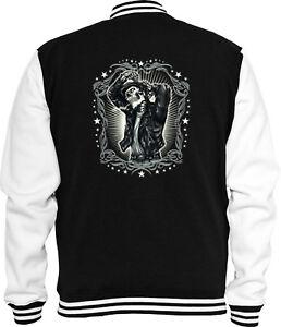 Sweat Jacket Hot Vintage Skull Rod Rockabilly V8 Teddyboy College R5wtZwq