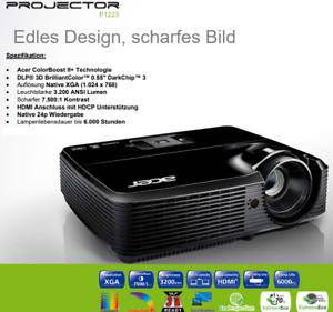 TOP High End HDTV ACER 3.200 AnsiLumen Beamer Kontrast 7500:1, FULL HD komp.