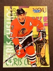 1995-96 Fleer Starting Lineup OVERSIZE PROOF Chris Chelios Blackhawks