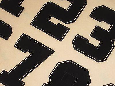 IOWA HAWKEYES Vintage Football Helmet Numbers Decals FULL Size 3M 20MIL