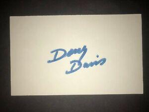 1988 ANGELS: Doug Davis, SIGNED 3x5 Card (JS)